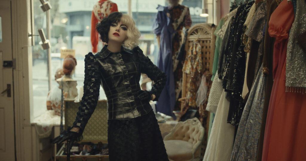 cruella in dress shop