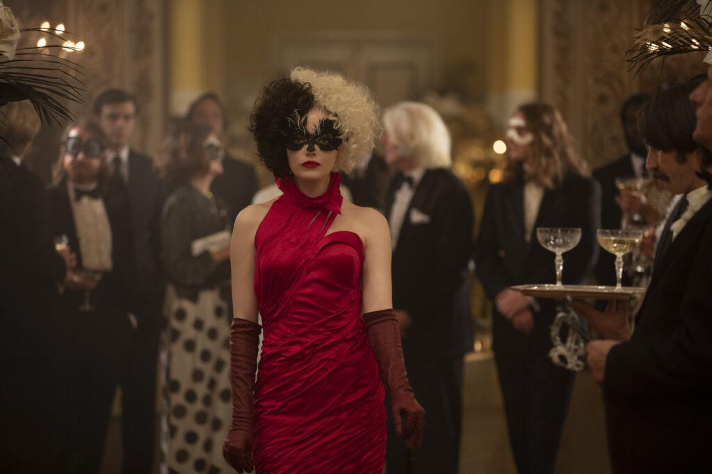 cruella emma stone red dress