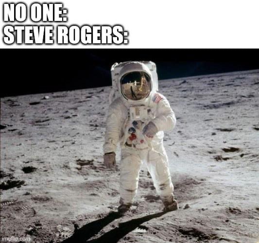 Steve on the moon