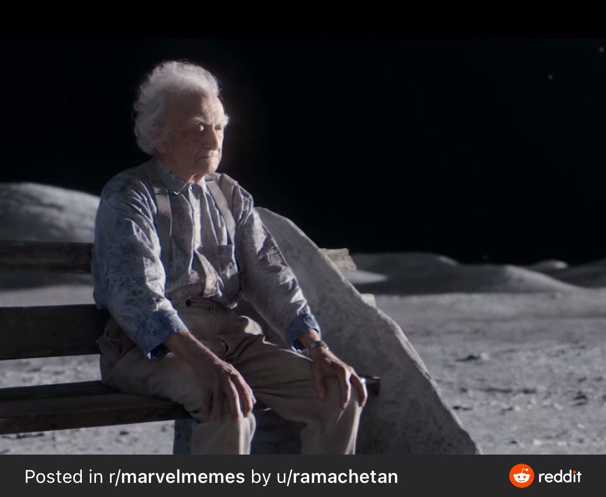 Steve watching from the moon