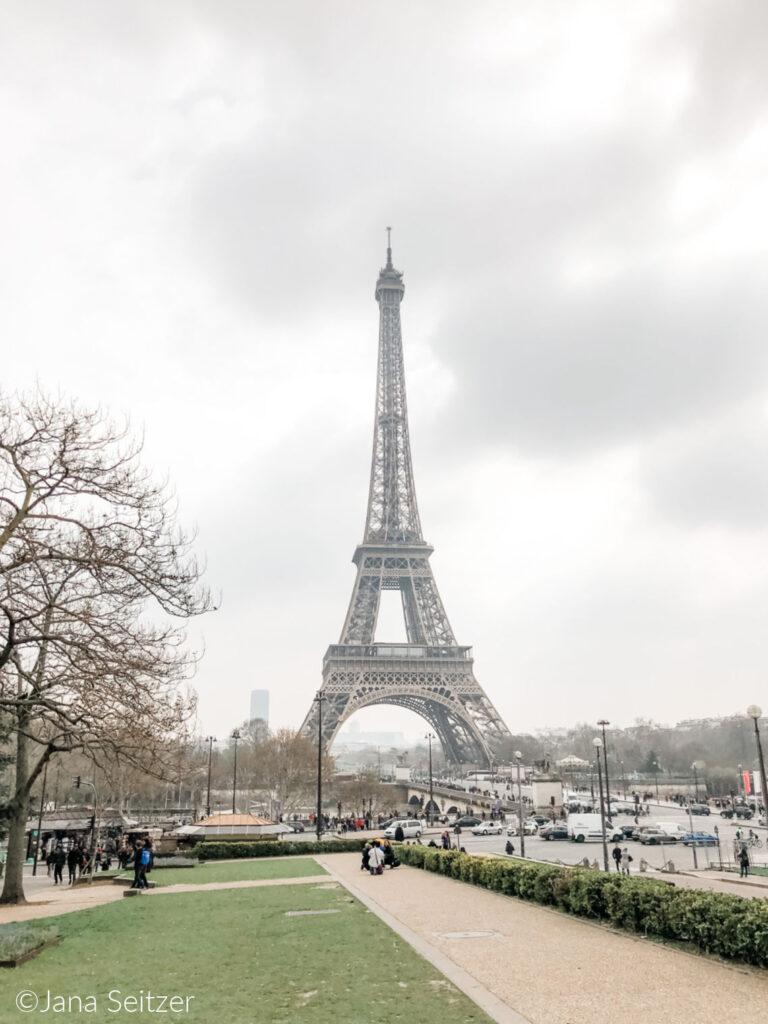 eiffel tower from gardens