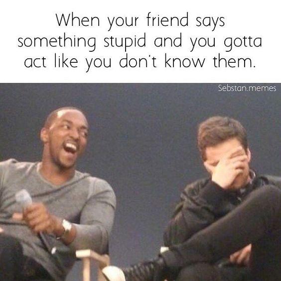friend says something stupid