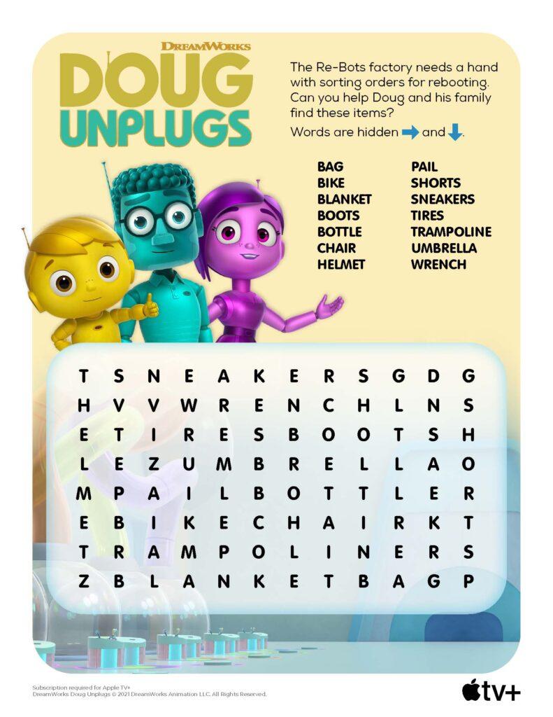 Doug Unplugs WordSearch