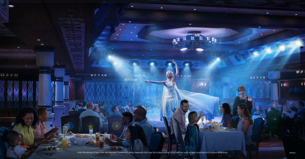 Disney Wish - Family Dining - Arendelle A Frozen Dining Adventure