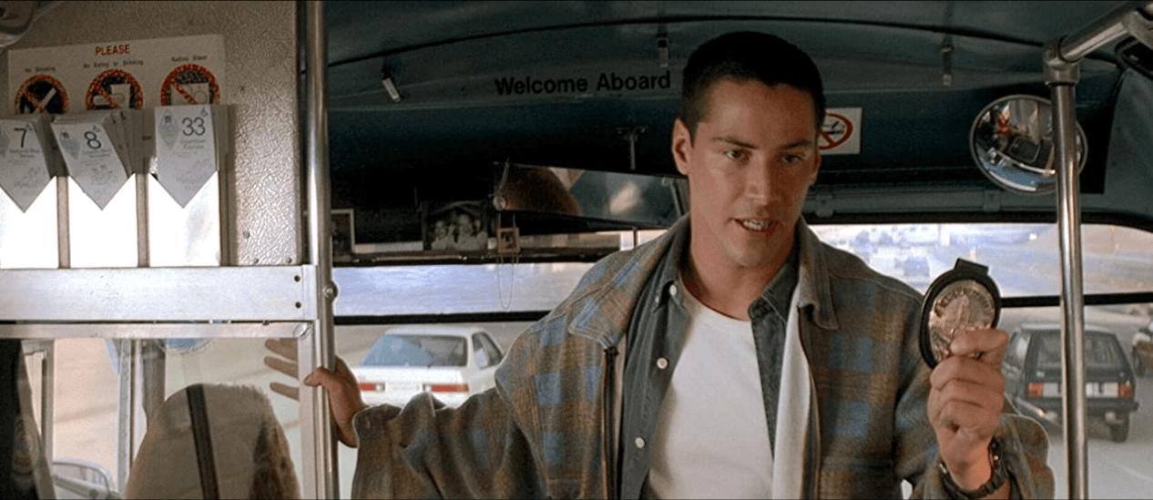Keanu Reeves in Speed 1994