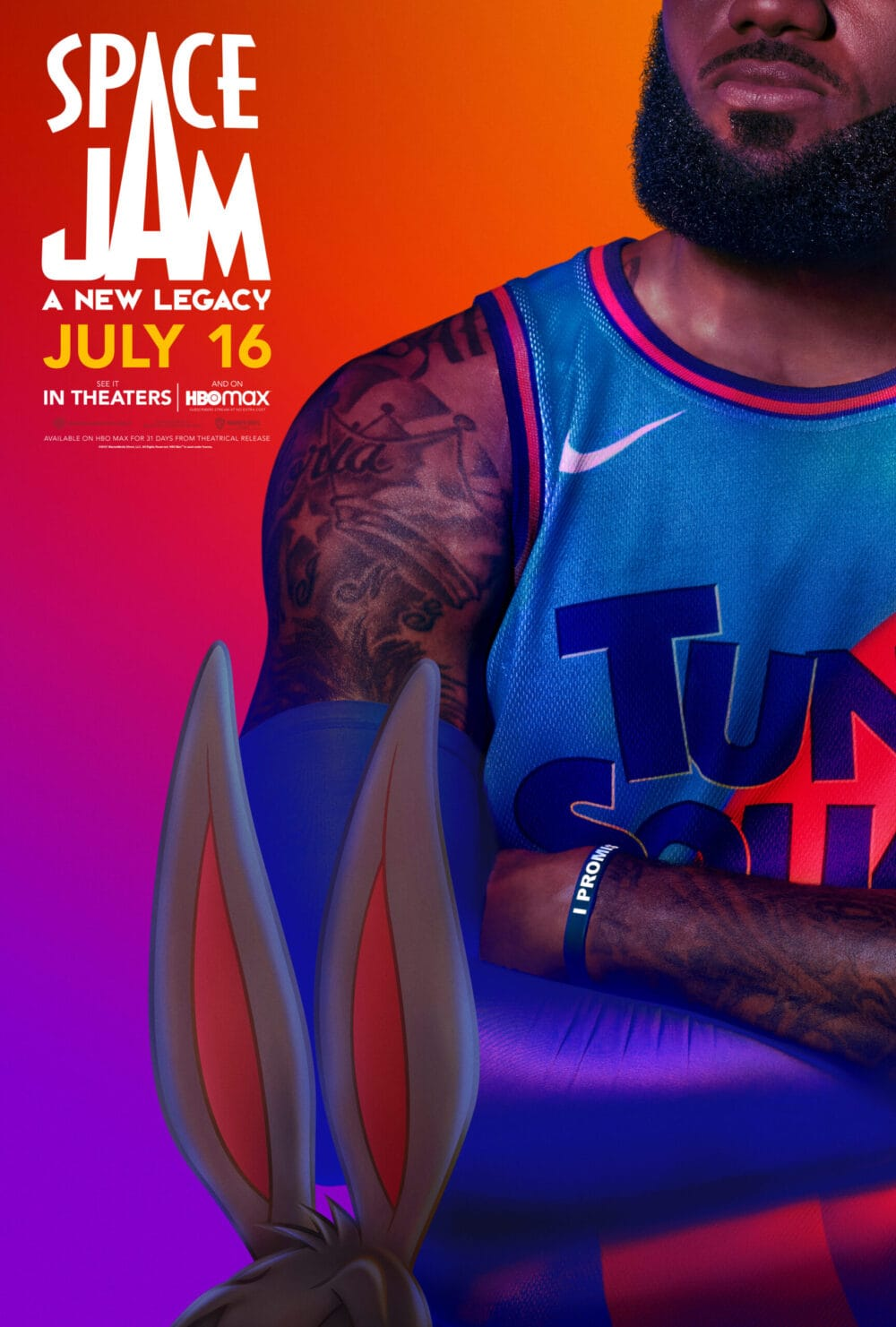 LeBron Space Jam A New Legacy Character Poster