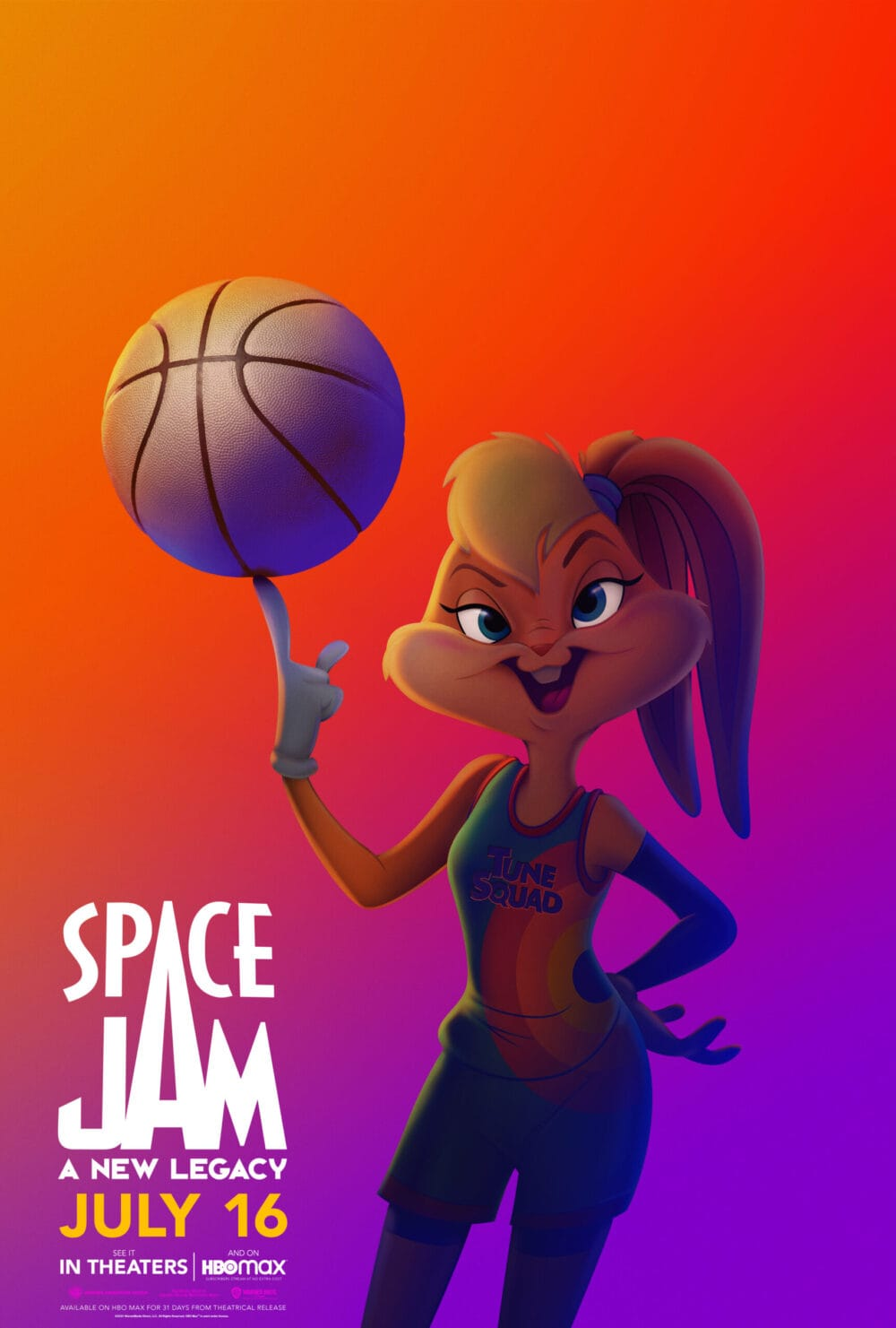 Lola Bunny Space Jam A New Legacy Character Poster
