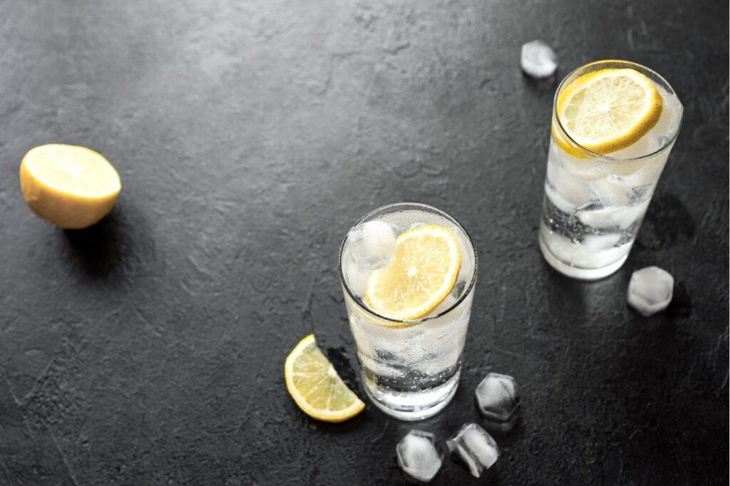 gin and tonic lemon