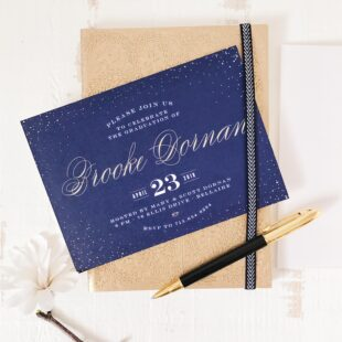 foil graduation announcements