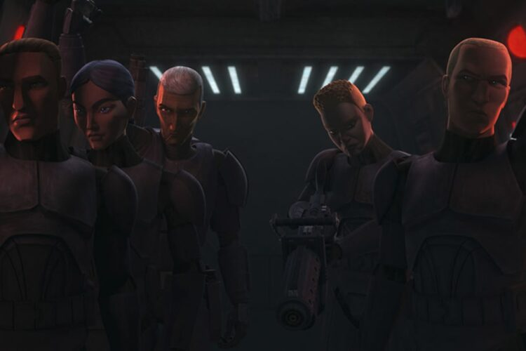 """Recruits in a scene from """"STAR WARS: THE BAD BATCH"""""""