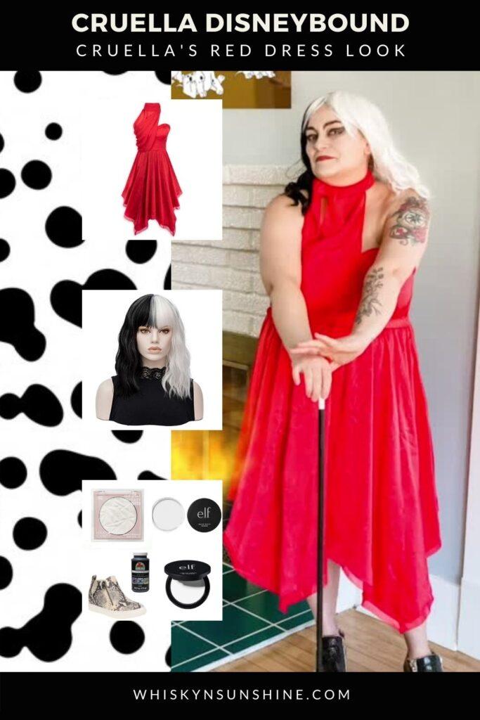 cruella red dress disneybound