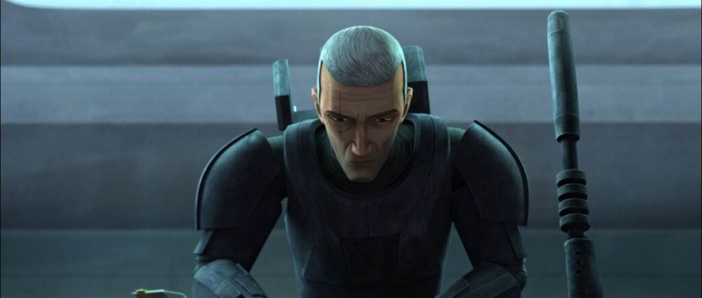 """Crosshair in a scene from """"STAR WARS: THE BAD BATCH"""""""