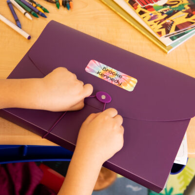 10 Back-to-School Organization Tips + How to Use Personalized Labels