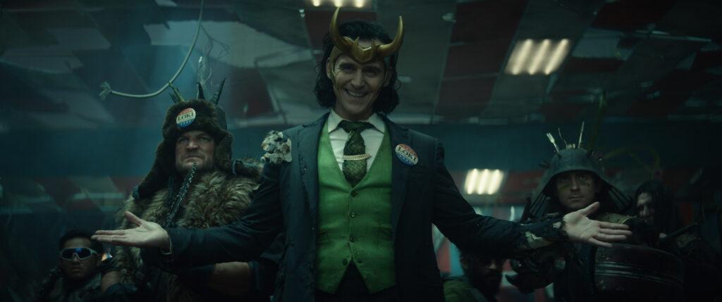 Loki with horns in Disney Plus