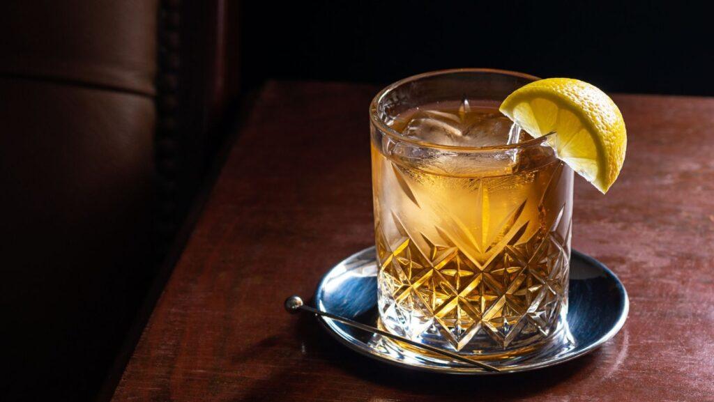 bourbon with lemon