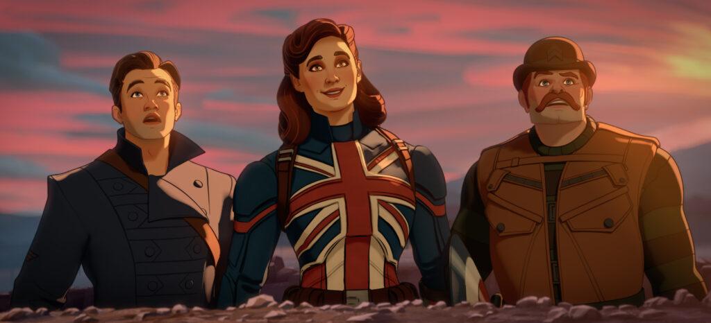 WHAT IF…? Bucky Barnes, Captain Carter/Peggy Carter and Dum Dum Dugan