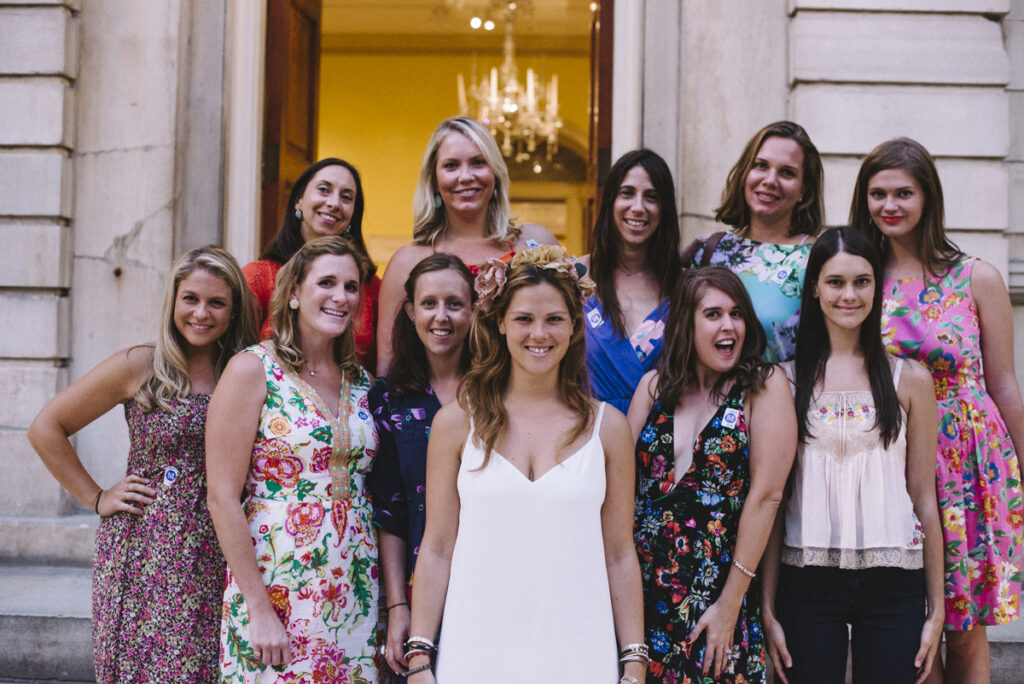 A bachelorette party enjoys an awesome tour of the Met