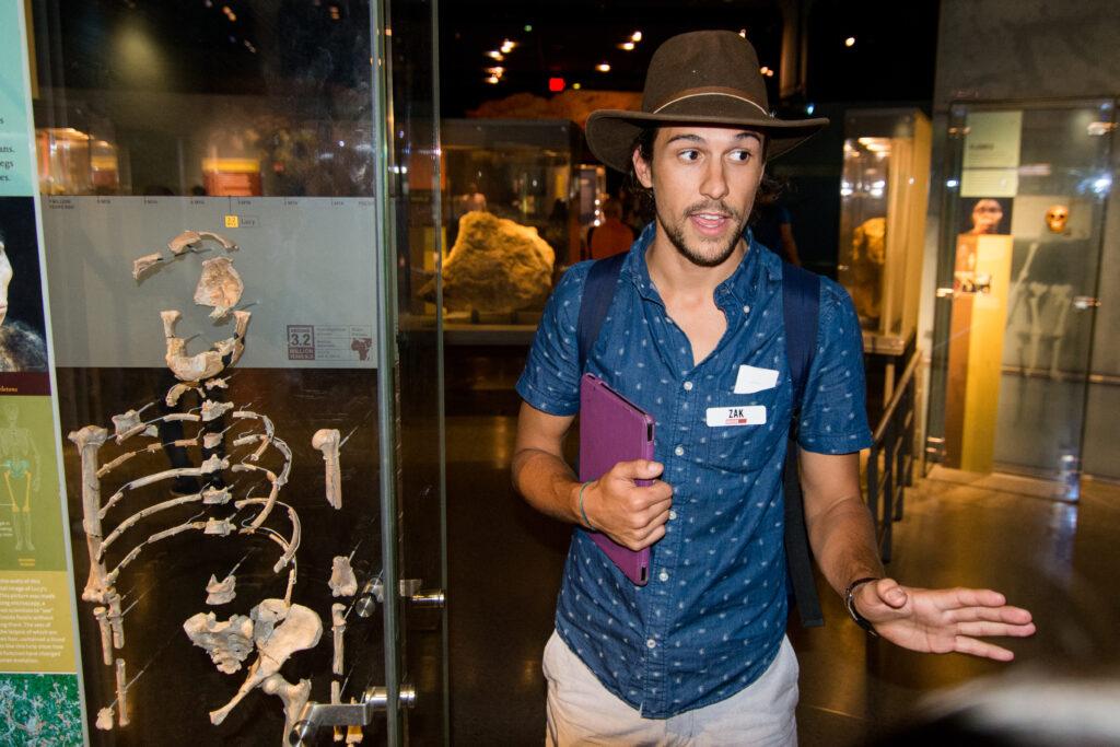 Tour guide Zak at the AMNH