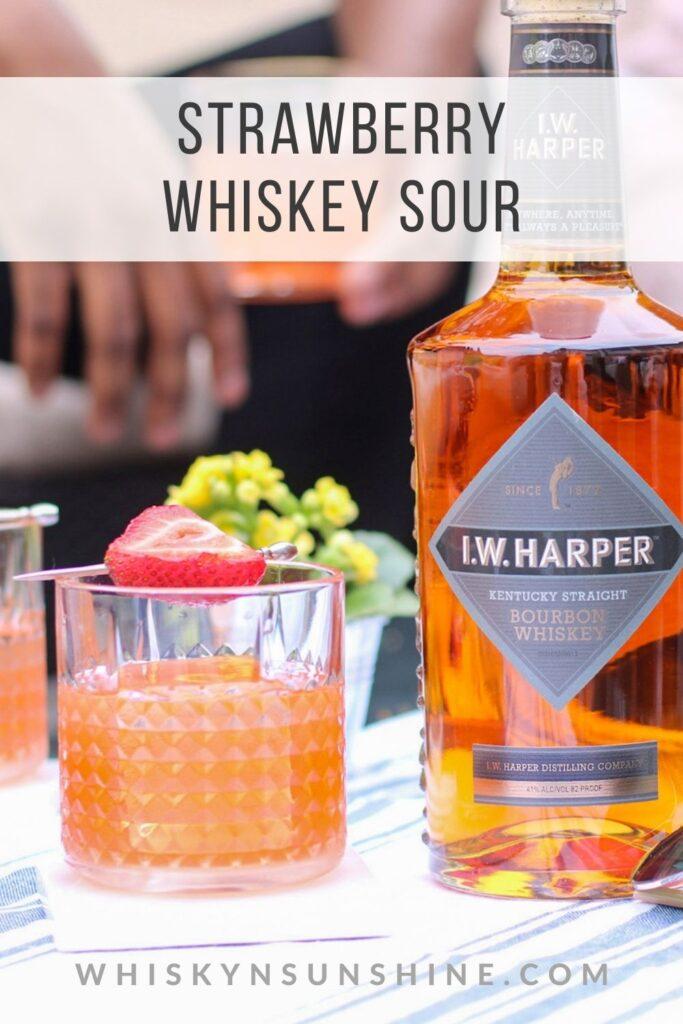 strawberry whiskey sour