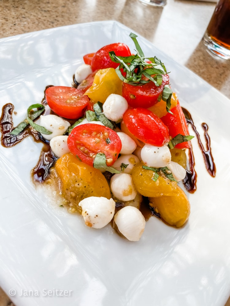 Caprese Salad Oogie Boogie Bash Dining at Wine Country Trattoria