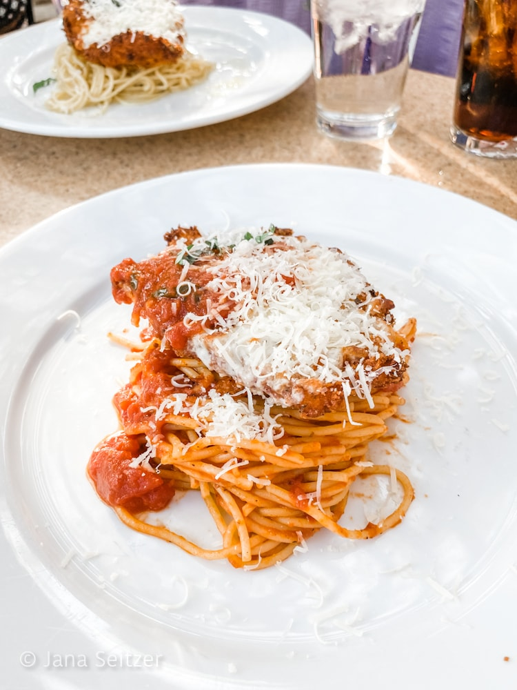 Chicken Parmesan Oogie Boogie Bash Dining at Wine Country Trattoria
