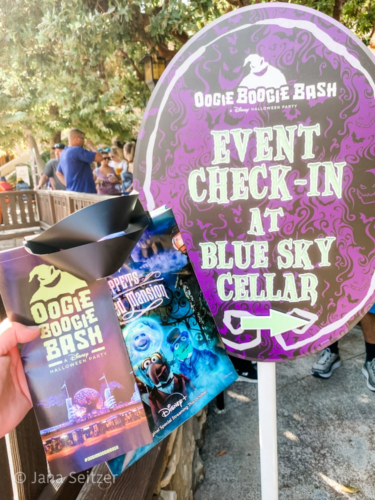 blue sky check in oogie boogie bash